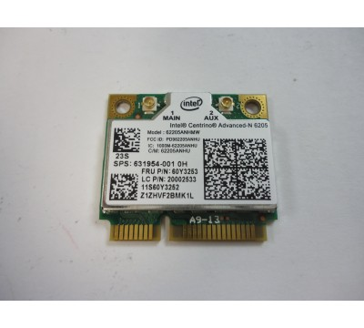 IBM Lenovo FRU 60Y3253 Intel Centrino Advanced-N 6205 Wireless Wifi Card 62205ANHMW