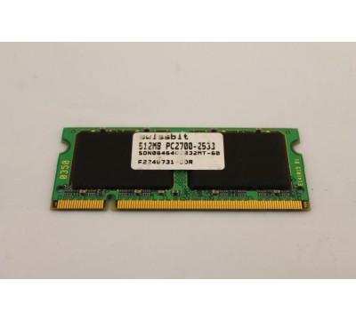SWISSBIT 512MB PC2700 SDN06464D2332MT-60 HP TOUGHBOOK RAM