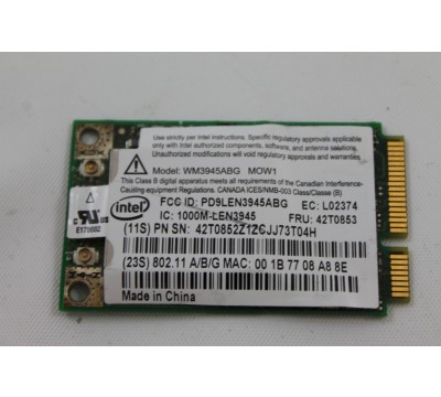 IBM Thinkpad T60 Fru 802.11A/B/G Intel Wireless Card 42T0853