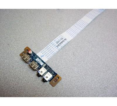 TOSHIBA P755-S5215 USB AUDIO PORT BOARD LS-6064P