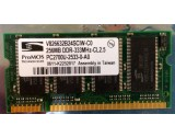PROMOS TECHNOLOGIES V826632B24SCIW-C0 256MB DDR 333MHZ PC2700 RAM