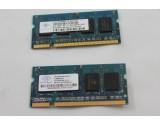 NANYA 2X512MB 1GB DDR2 LAPTOP MEMORY RAM 667MHz PC2-5300S-555-12 NT512T64UH8A1FN