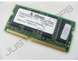 INFINEON 256MB DDR PC2100S SODIMM MEMORY MODULE HYS64D32020GDL-7-B 133MHZ