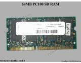 SD RAM 100MHz-Micron-MT8LSDT864HG-10EC5 64MB PC100 144-pin SDRAM SODIMM Memory