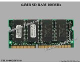 Toshiba THLY648021BFG-10 SD RAM 100MHz 144-pin 64MB FOR LAPTOP