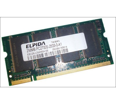ELPIDA LAPTOP RAM 256MB PC2700 EBD26UC6AMSA-6B