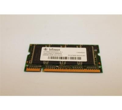 A PAIR OF INFINEON HYS64D32020GDL-6-C PC2700 256MB, DDR, 333MHZ LAPTOP MEMORY