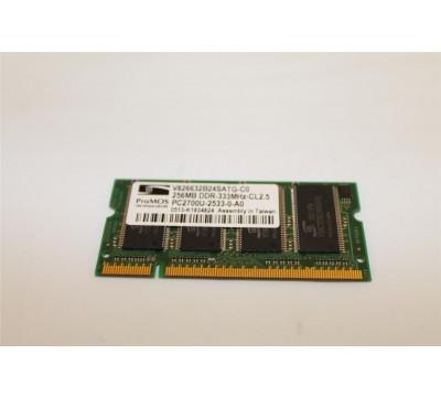 PRO MOS TECHNOLOGIES LAPTOP RAM V826632B24SATG-C0 256MB DDR 333MHZ PC2700U