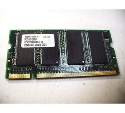 A PAIR OF HYNIX LAPTOP RAM 256MB DDR 266MHZ HYMD232M646A6-H AA