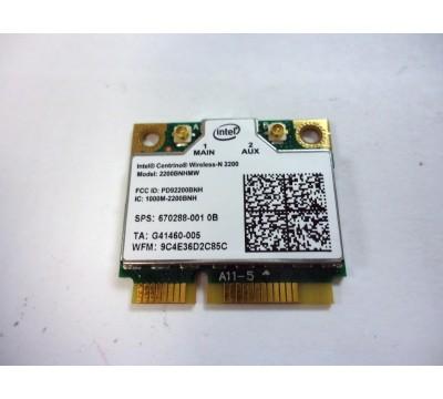 Intel Centrino Wireless-N 2200 2200BNHMW 802.11b/g/n, 300 Mbps 2x2, Single-band Wi-Fi Card SPS: 670288-001