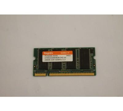 HYNIX LAPTOP MEMORY HYMD232M646D6-D43 AA 256MB, DDR, 400MHZ, CL3