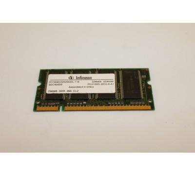 INFINEON HYS64D32020GDL-7-B 256MB, DDR, 266, CL2 PC2100 LAPTOP RAM