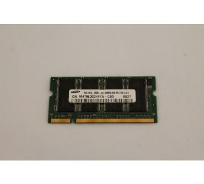 SAMSUNG LAPTOP RAM 256MB DDR, PC2700, M470L3224FT0-CB3