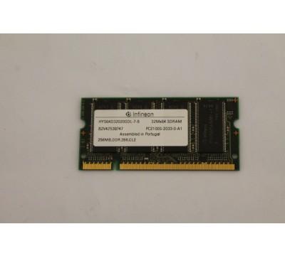 INFINEON HYS64D32020GDL-7-B 256MB, DDR, 266MHZ, PC2100