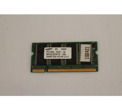 SAMSUNG LAPTOP RAM M470L3224FT0-CB0 256MB, DDR, PC2100, CL2.5