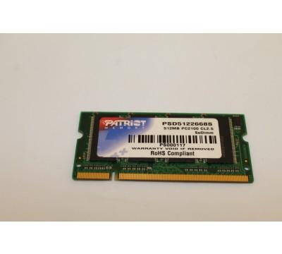 PATRIOT LAPTOP MEMORY PSD5122668S 512MB PC2100 CL2.5 SODIMM