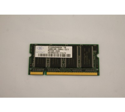 NANYA LAPTOP MEMORY NT256D64SH8B0GM-75B 256MB, DDR, 266MHZ, CL2.5 PC2100