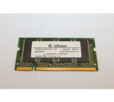 INFINEON HYS64D32020GDL-7-B 256MB, DDR, 133MHZ, CL2 PC2100 LAPTOP MEMORY