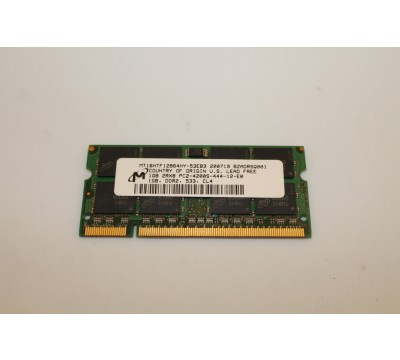 MICRON LAPTOP RAM MT16HTF12864HY-53EB3 1GB DDR2, 533MHZ, PC2-4200
