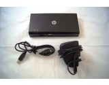 HP USB 2.0 Docking Station HSTNN-S02X W/ USB Cable & Charger 589144-001
